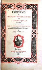Principios de derecho internacional: Volumen 1