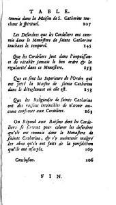 Factum pour les religieuses de Sainte-Catherine les-Provins, contre les Pères Cordeliers