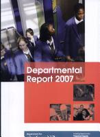 Department for Education and Skills departmental report 2007 PDF