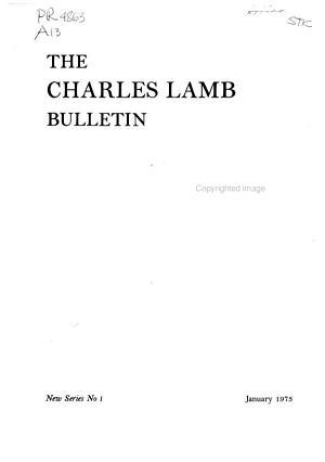 The Charles Lamb Bulletin