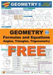 Geometry Formulas and Equations 1 Free: Angles, Triangles, Trigonometry