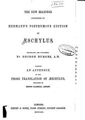 The New Readings Contained in Hermann's Posthumous Edition of Aeschylus