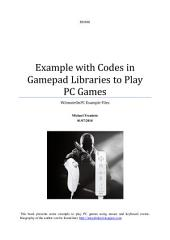Example with Codes in Gamepad Libraries to Play PC Games: WiimoteOnPC Example Files