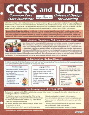 CCSS and UDL  Common Core State Standards and Universal Design for Learning PDF