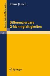 Differenzierbare G-Mannigfaltigkeiten