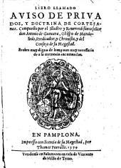 Libro llamado Aviso de privados y doctrina de cortisanos