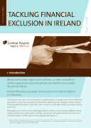 Combat Poverty Agency Policy Statement: Tackling Financial Exclusion in Ireland (2008)