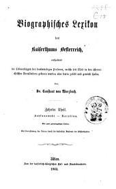 Biographisches Lexicon des Kaiserthums Österreich, enthaltend die Lebensskizzen der denkwürdigen Personen, welche 1750 bis 1850 im Kaiserstaate und in seinen Kronländern ... gelebt haben: Band 17