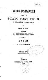Monumenti dello Stato pontificio: e relazione topografica di ogni paese opera, Volumi 1-2