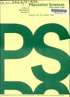 Population Sciences PDF