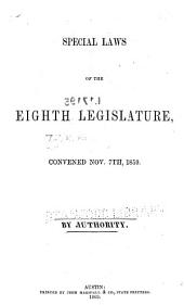 Laws Passed by the ... Legislature of the State of Texas