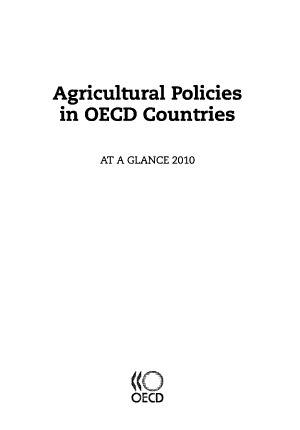 Agricultural Policies in OECD Countries 2010 At a Glance PDF