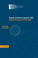 Dispute Settlement Reports 2006  Volume 11  Pages 4719 5084 PDF