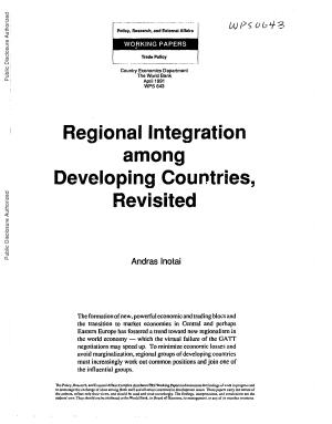 Regional Integration Among Developing Countries  Revisited