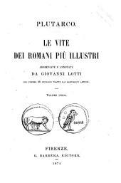 Le vite dei romani più illustri Plutarco