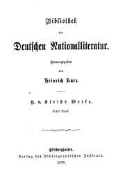 Heinrich v. Kleists Gesammelte Werke: Band 2
