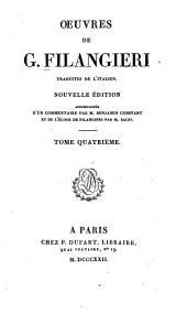 Œuvres de G. Filangieri: Des lois relatives à l'éducation, aux moeurs, et à l'instruction publique