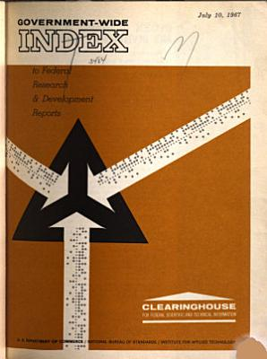 Government wide Index to Federal Research   Development Reports PDF