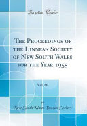 The Proceedings of the Linnean Society of New South Wales for the Year 1955  Vol  80  Classic Reprint  PDF