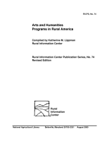 Arts and Humanities Programs in Rural America PDF