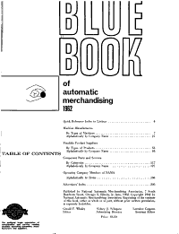 Directory of Automatic Merchandising