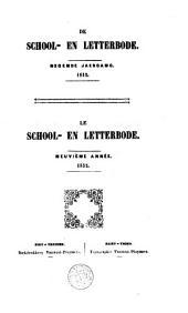 De school- en letterbode of Bydragen ter bevordering van onderwys, letterkunde en geschiedenis: Volume 9