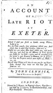 An Account of a Late Riot at Exeter