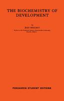 The Biochemistry of Development PDF