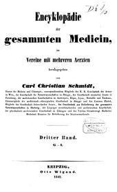 Encyklopädie der gesammten Medicin, in Vereine mit mehreren Aerzten herausgegeben von Carl Christian Schmidt: Band 3