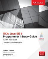 OCA Java SE 8 Programmer I Study Guide  Exam 1Z0 808  PDF