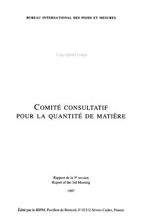Comit   consultatif pour la quantit   de mati  re PDF
