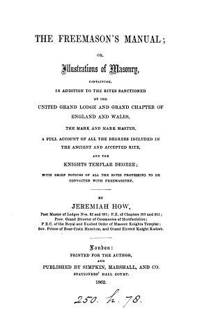 The freemason's manual; or, Illustrations of masonry