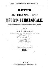 Revue de thérapeutique médico-chirurgicale: Volume1855