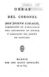 Obras del coronel don Joseph Cadalso: Ocios de mi juventud