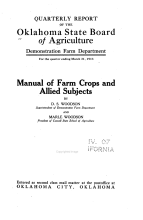Quarterly Report of the Oklahoma State Board of Agriculture  Demonstration Farm Dept PDF