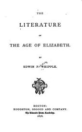 The Literature of the Age of Elizabeth
