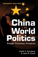 China in World Politics PDF