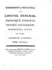 Ad linguae Hebraeae sacrique codicis