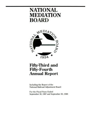 Annual Report of the National Mediation Board PDF