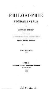 Philosophie fondamentale, tr. et précédée d'une intr. par É. Manec