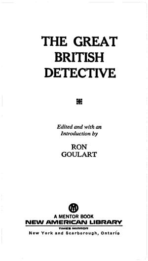 The Great British Detective