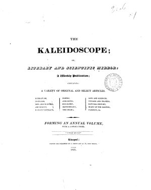 The Kaleidoscope  or  Literary and scientific mirror