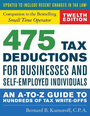475 Tax Deductions for Businesses and Self Employed Individuals