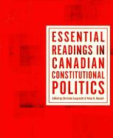 Essential Readings in Canadian Constitutional Politics PDF