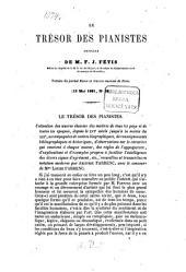 """Le Trésor des Pianistes par A. Farrenc: Articles de Fr. Jos. Fétis (Extraits du journal """"Revue & Gazette musicale de Paris"""" 1861. No. 20. 35. 37.)"""