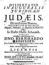 Diss. inaug. iurid. de Judaeis