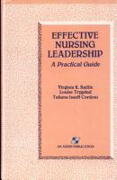 Effective Nursing Leadership PDF