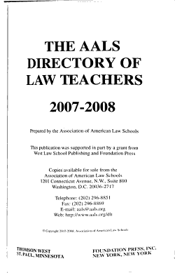 The AALS Directory of Law Teachers PDF
