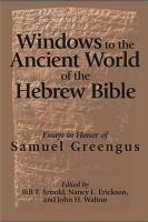 Windows to the Ancient World of the Hebrew Bible PDF