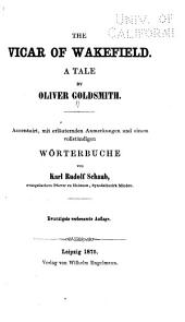 The Vicar of Wakefield: A Tale by Oliver Goldsmith